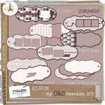 Free scrapbook frames and tags from Thaliris