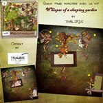 """Free scrapbook quick page  """"Whisper of a sleeping garden"""" from Thaliris"""