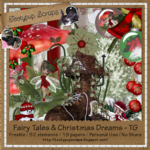"""Scrapbook Freebie """"Fairy Tales and Christmas dreams"""" by tootypupscraps"""