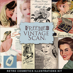 Freebies Vintage Cosmetics Illustrations Kit by farfarhill
