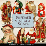 Scrapbook Christmas Vintage free illustrations