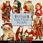 Scrapbook Christmas Vintage free illustrations