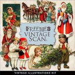 Scrapbook freebie Vintage Christmas
