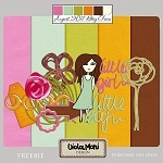 "Free scrapbook mini kit ""Little girl, little boy"" from violamoni"