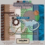"Free scrapbook mini kit ""My Daddy"" from violamoni"