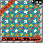 "Free scrapbook paper ""Viv Stars"" from enlivendesigns.us"