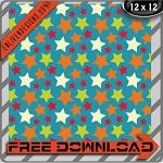 "Free scrapbook paper ""Viv Stars"" from enlivendesigns.us"