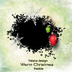 "Free scrapbook alpha mask ""Warm Christmas"" from Yalana Designs"