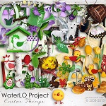 "Free scrapbook kit ""Easter Things""from WaterLo Project"