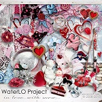 "Free scrapbook kit ""In Love"" from WaterLo Project"