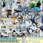 "Free digital scrapbook kit ""Snowflake world"" from WaterLo Project"
