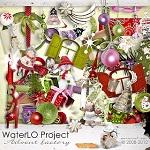 Free digital scrapbook winter/christmas from WaterLo Project